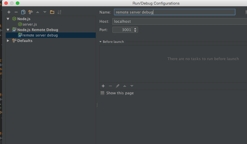remote debug intellij node